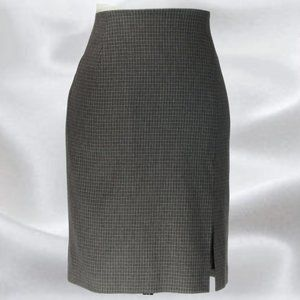 OPEN Collection Gray Grid Check Skirt in Size 8